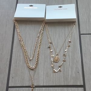 2pc Charlotte Russe Necklace Bundle